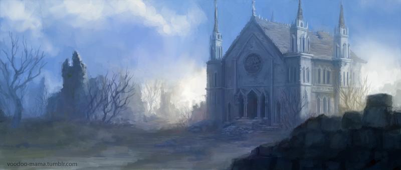 Abandoned Church by CavalierediSpade
