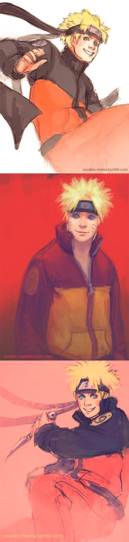 Naruto Sketch Dump III by CavalierediSpade