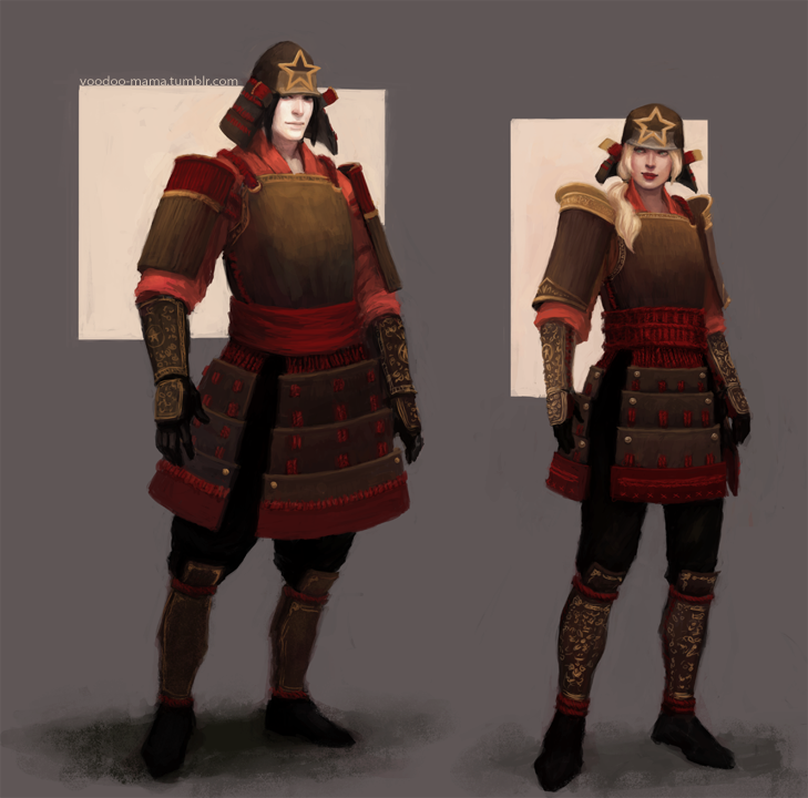 Samurai characters by CavalierediSpade