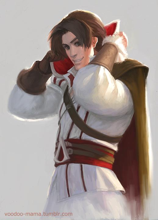 Cartoon Ezio by CavalierediSpade