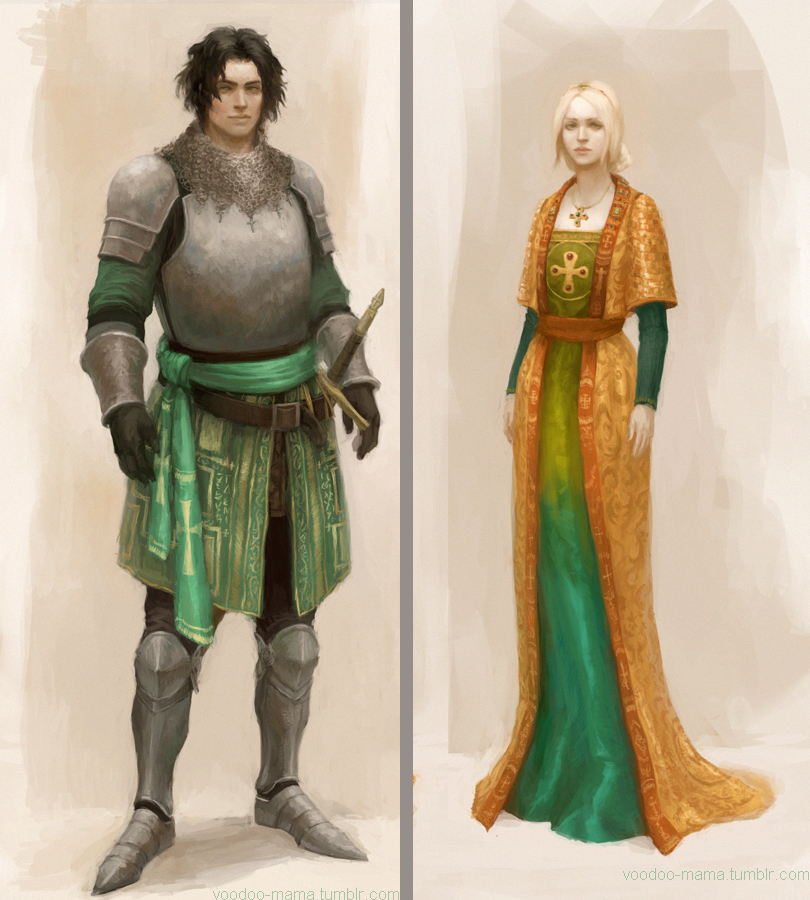 Knight and Lady by CavalierediSpade