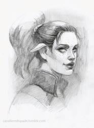 Commission: portrait sketch by CavalierediSpade
