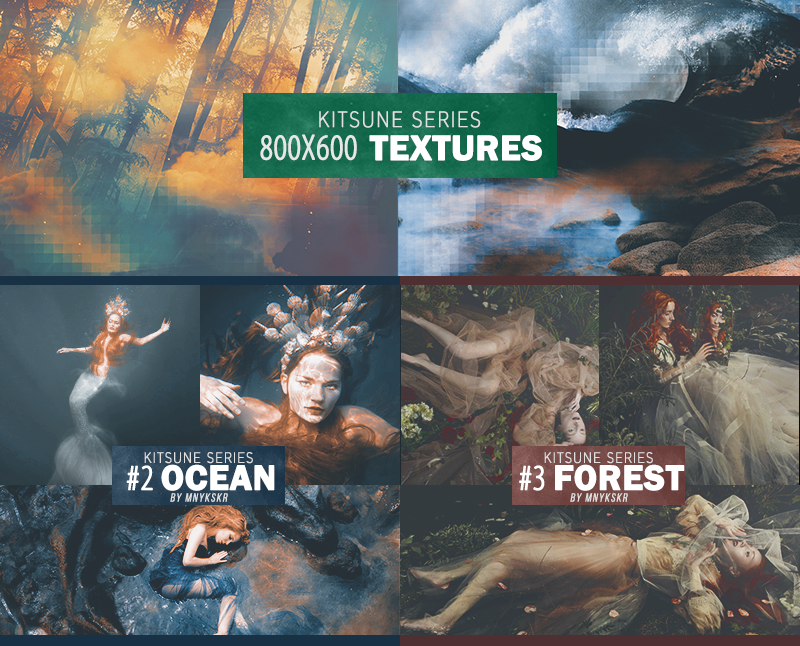 Kitsune Series PSD and Texture Pack by mnykskr