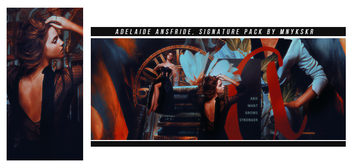 Young Adelaide Ansfride | Signature Pack by mnykskr
