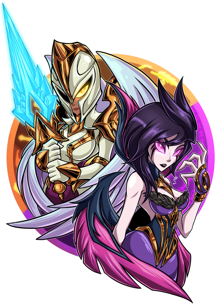 Kayle and Morgana by Kraus-Illustration