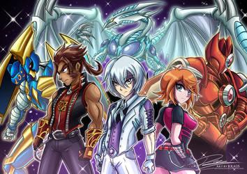 Heroes - YGO OC commission artwork