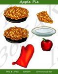 Apple Pie ClipArt Set