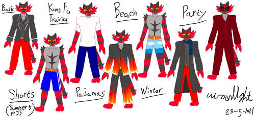 Pokemon furries: Dave's outfits