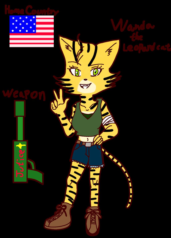 Animal of the agents OC: Wanda the Leopard cat