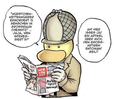 Entoman in der Chemnitzer Morgenpost