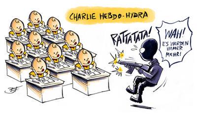 Charlie Hebdo Hydra by Yeocalypso