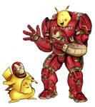 Cross Cosplay - Hulk Buster Iron Man Pikachu by Yeocalypso