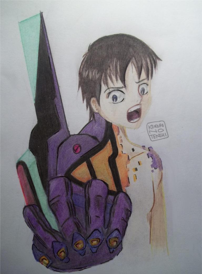 Shinji - Evangelion by KokoronoTenshi