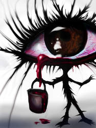 The eye with a bucket of blood