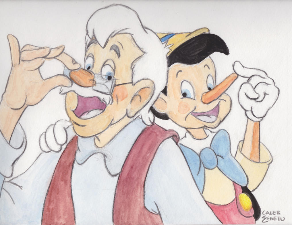 Geppetto and Pinocchio- Fathers Day by Caleb-Eshetu