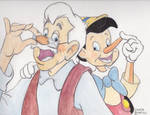 Geppetto and Pinocchio- Fathers Day