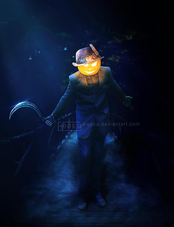 Scarecrow, Halloween. by Ewoka