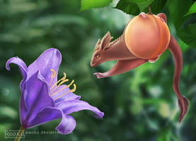 Fruity dragon and lilac lily