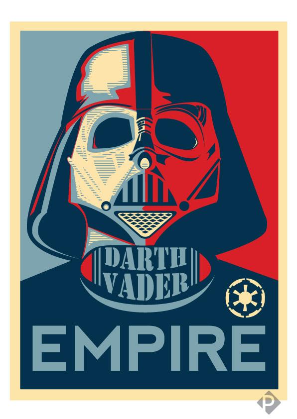 Darth Vader EMPIRE Poster by bL00df0x on DeviantArt