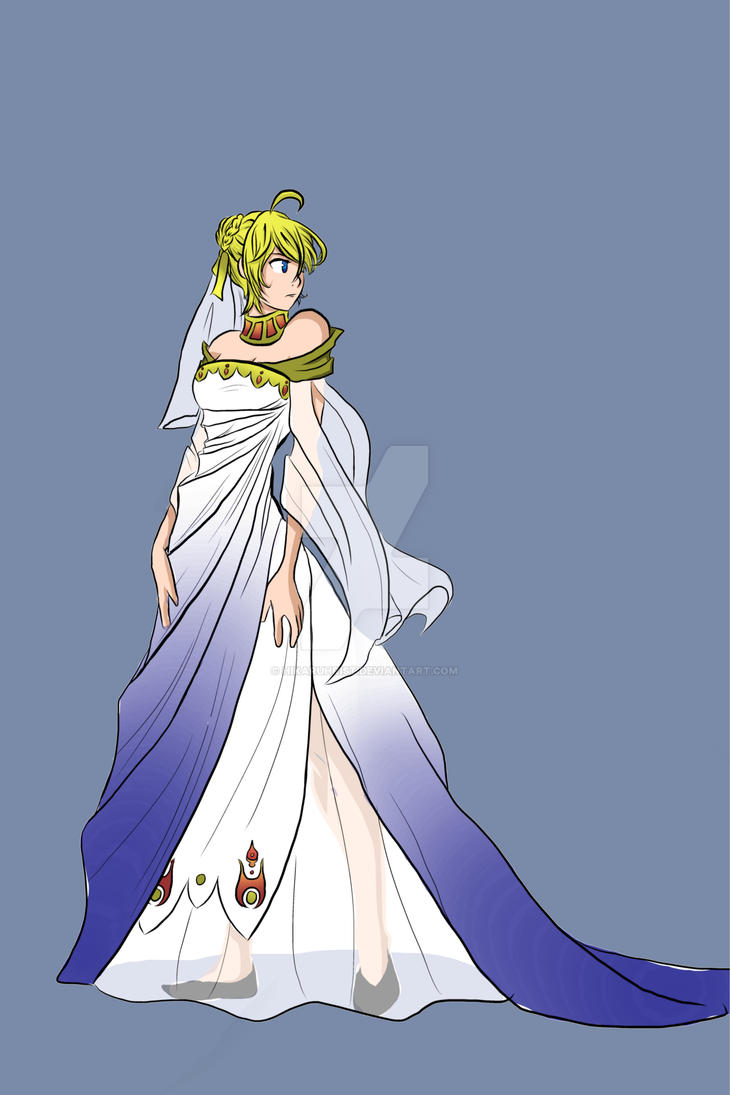 Saber wedding dress by HikaruHrist