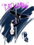 Catwoman pole dancer