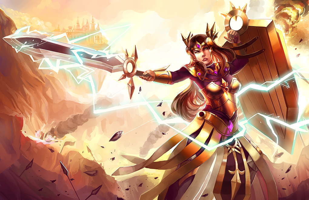 League of Legends: Leona by ClandestineKnight on DeviantArt