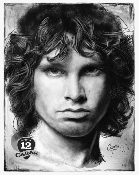 Jim Morrison - 12Caras Series by artcova