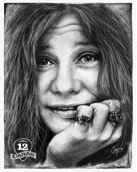 Janis Joplin - 12Caras by artcova