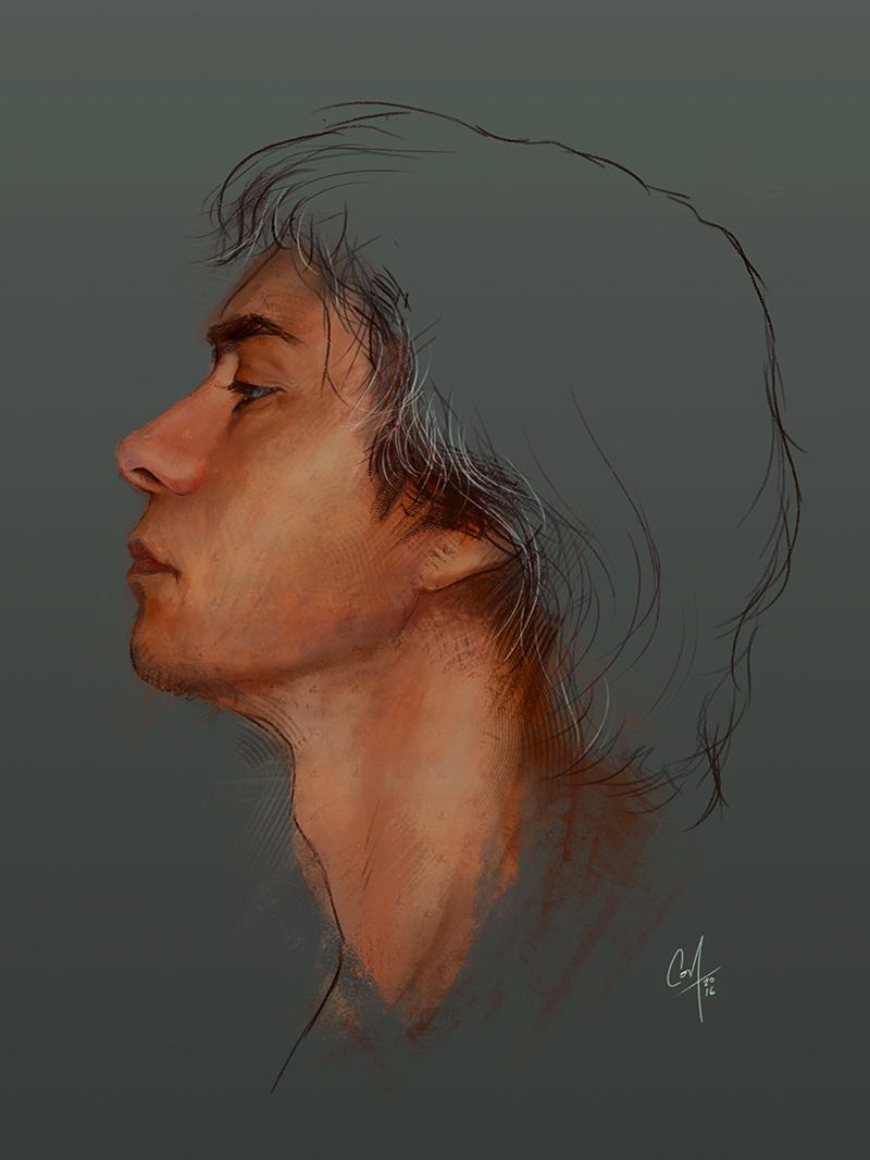 Selfportrait study by artcova