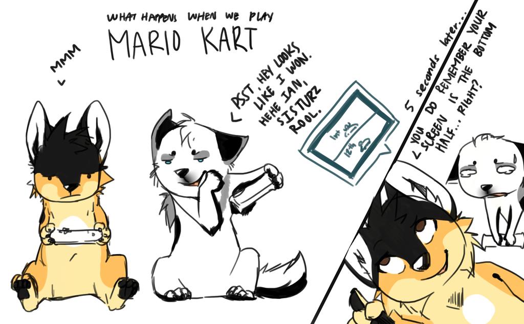 Mario Kart is fun for Wii by CapukatSketch