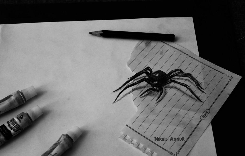 3d pencil sketch by nikhilannur