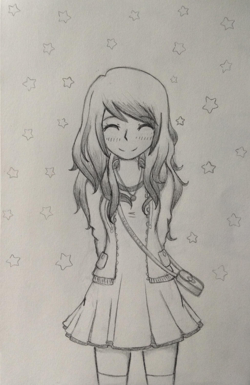 Happy Anime Girl By Artangelx3 On DeviantArt