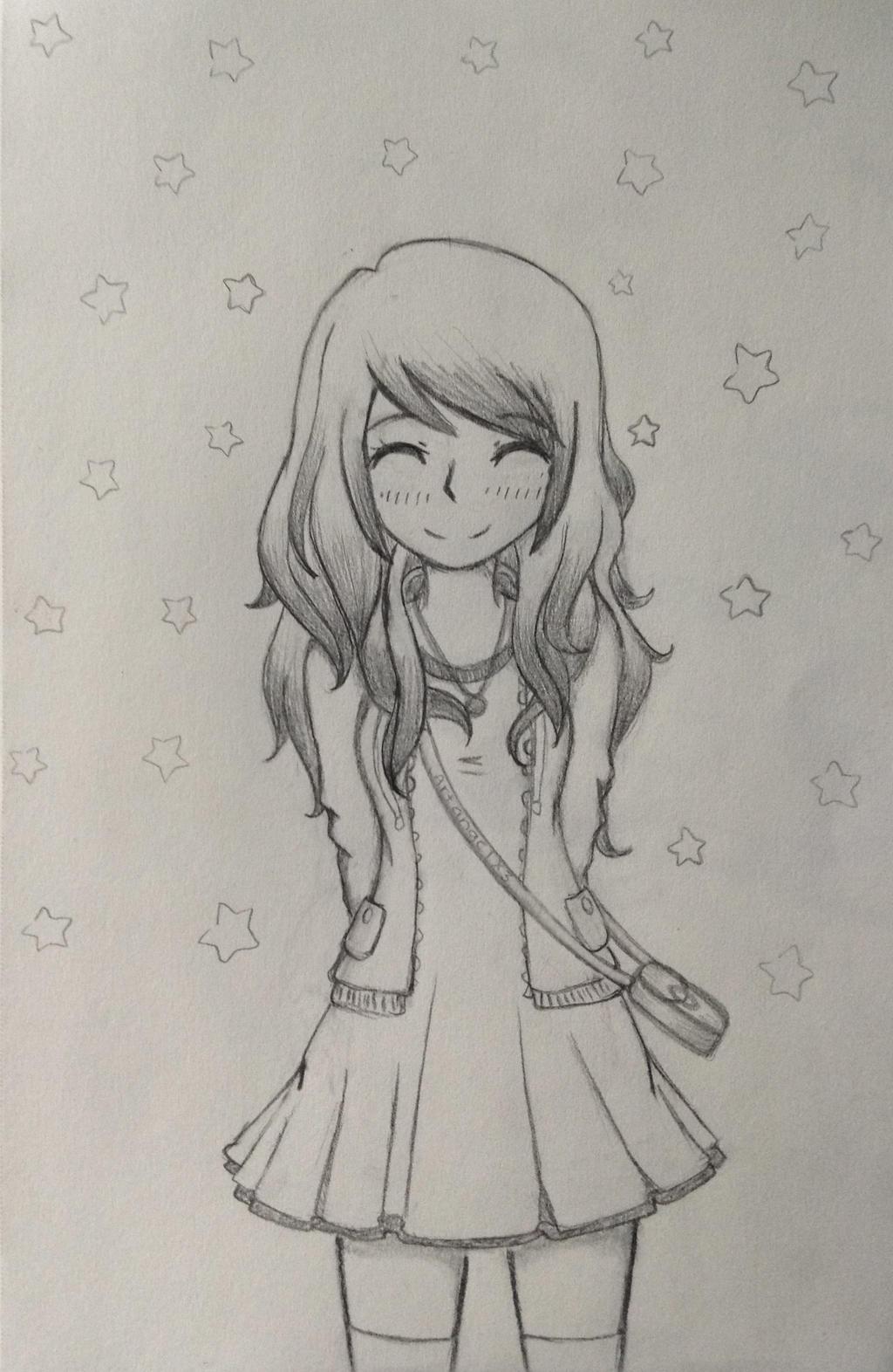 happy anime girl by artangelx3 on deviantART