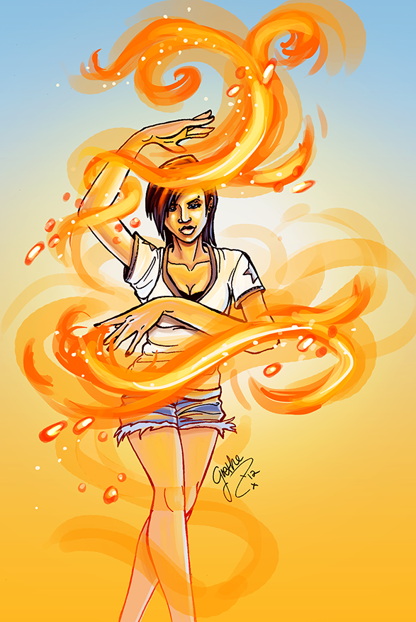 Fire Magic Evangeline Quickie by GretheFenyx