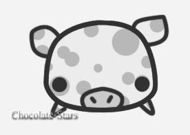 Monotone Pig 2 by chocolate-stars
