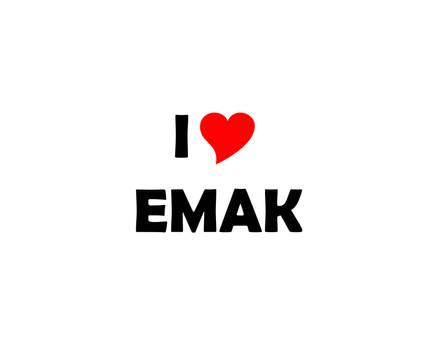 I LUV EMAK (with Berlin Sans FB Demi Font)
