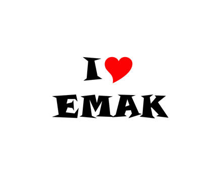 I LUV EMAK (with Snap ITC  Font)