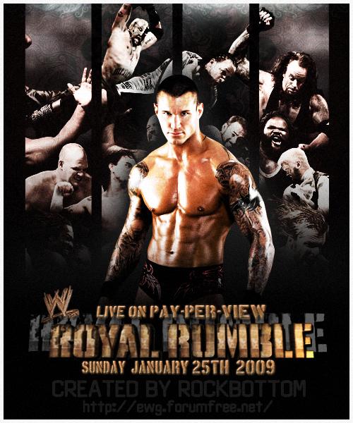 WWE Royal Rumble 2009 by RockBottomDesigns