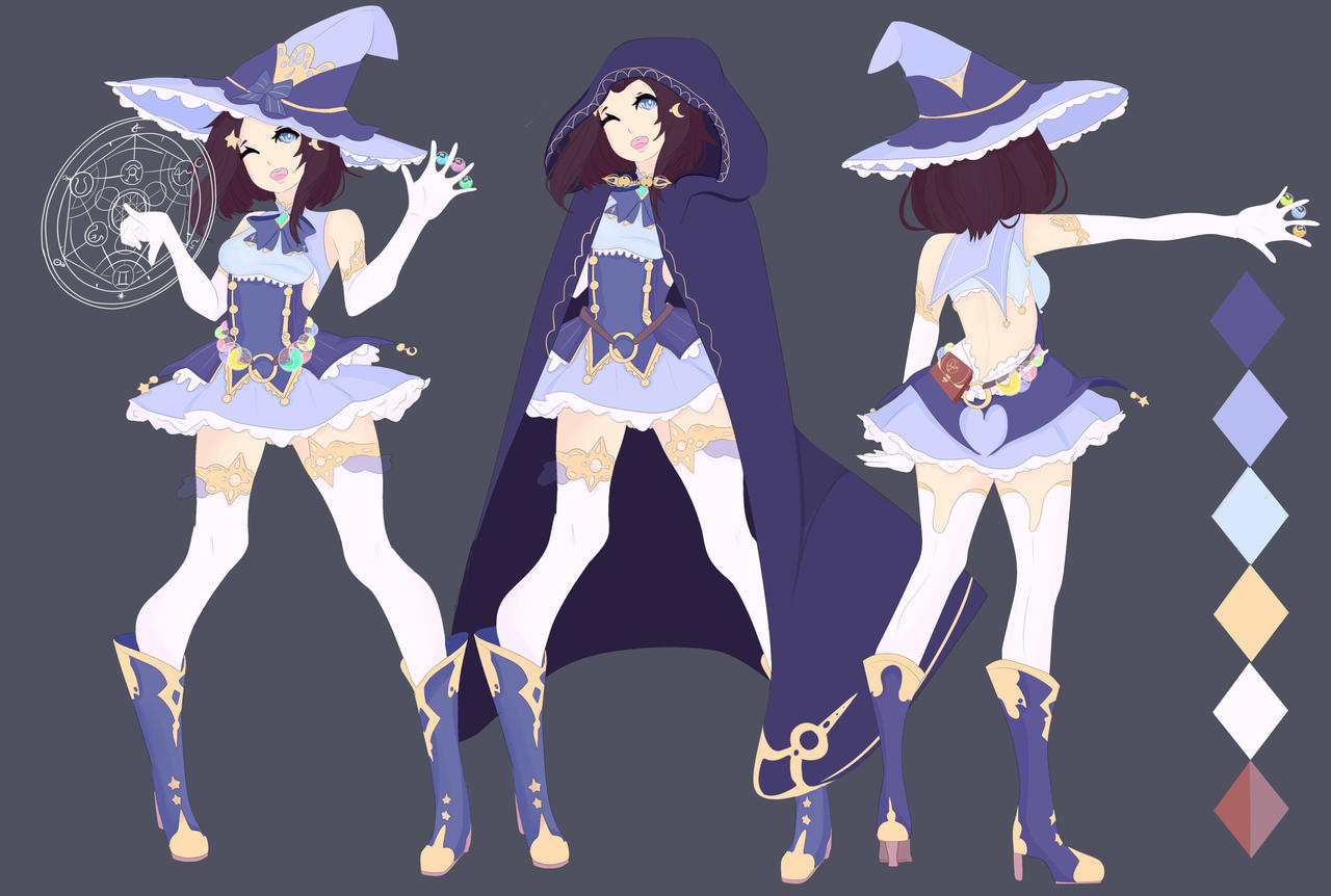 Witch Character Design Commission For Toliebunny By Sounds Like