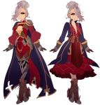 Fantasy character design for kiiryuin by sounds-like-balloons