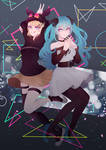 Gimme x Gimme MikuxRin Vocaloid fanart +Speedpaint by sounds-like-balloons