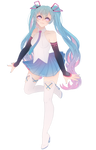 Miku Digital girl inspired design by sounds-like-balloons
