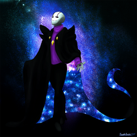 Outertale Gaster by PineappleAnanas