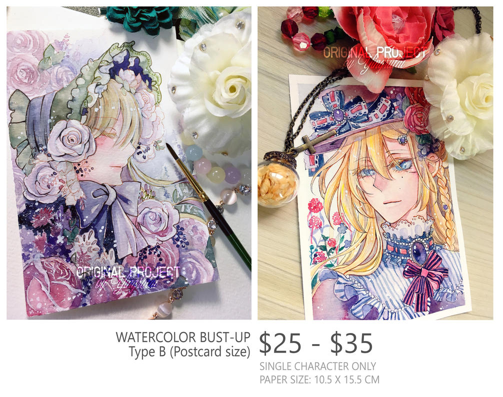 Watercolor Comission Type b by Yingrutai