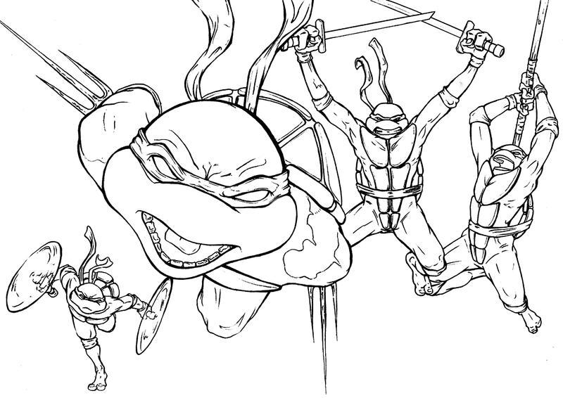 Line Art Ninja Turtles : Ninja turtles redux by martinszymanski on deviantart
