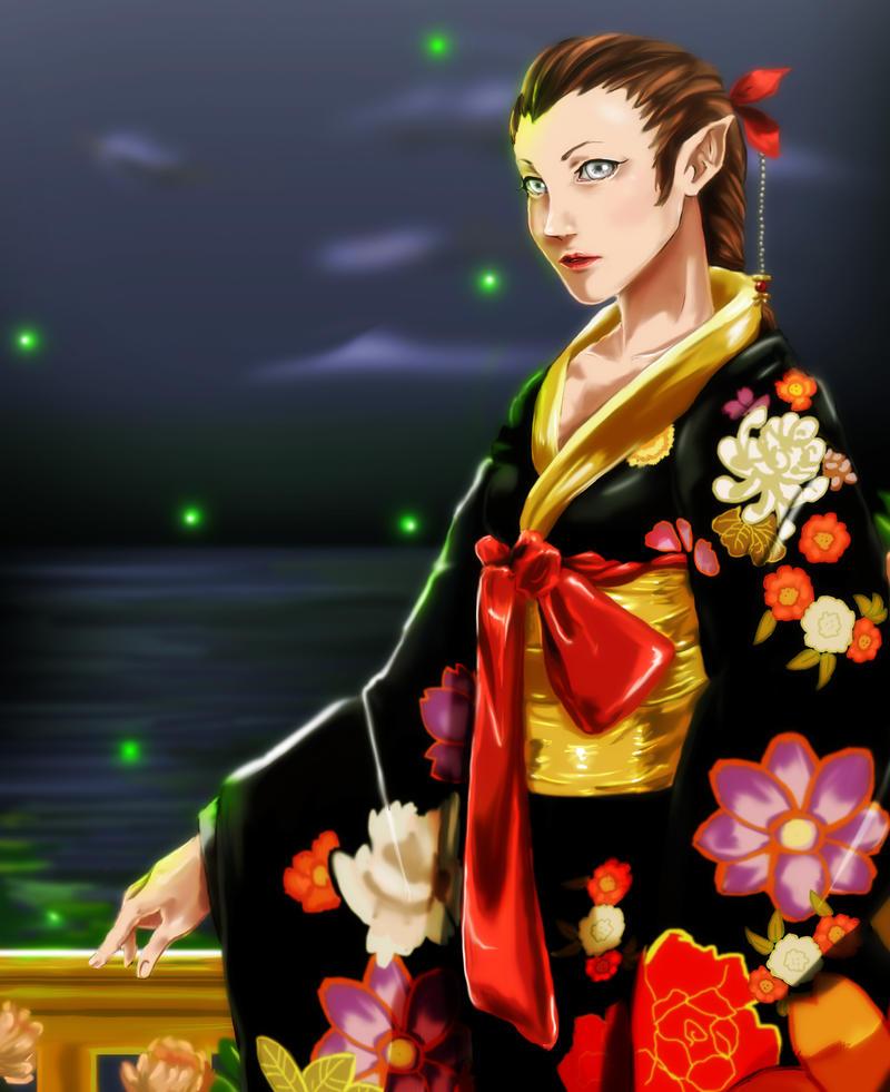 Ophelia in Kimono by tenchufreak