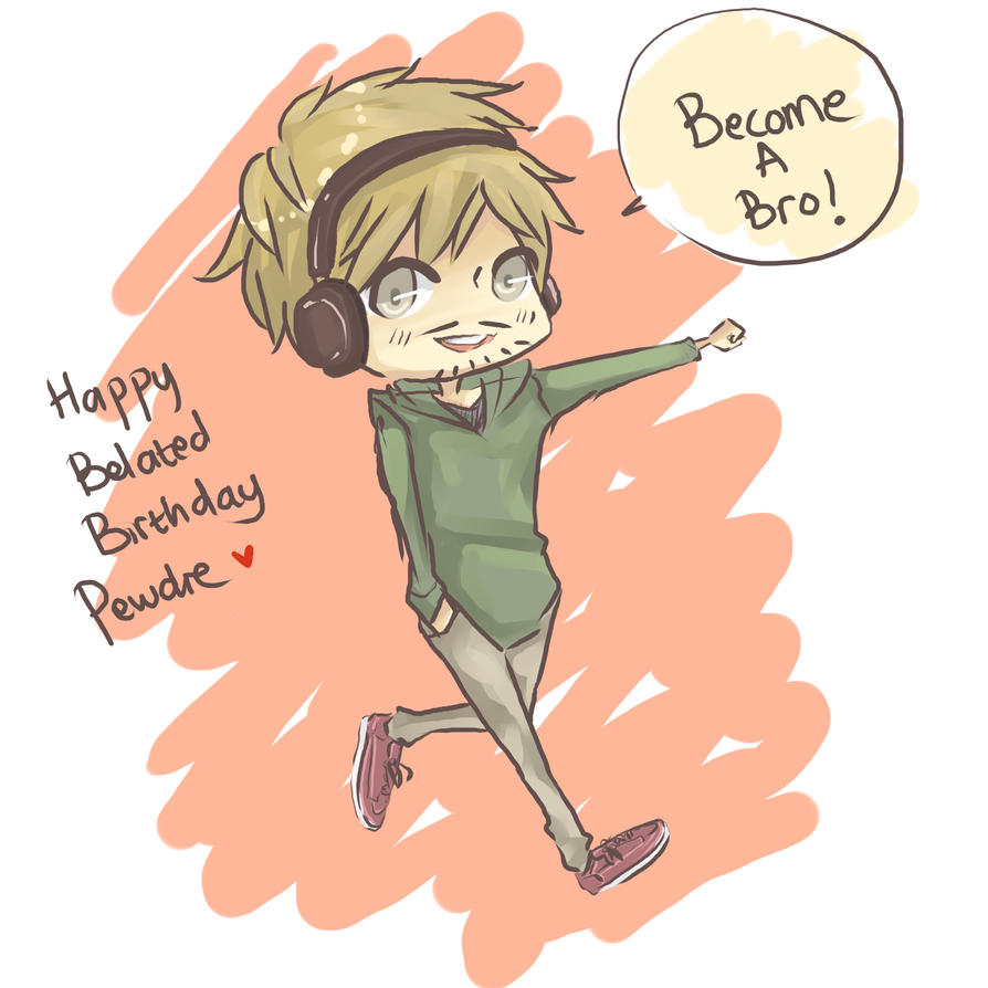 Happy belated birthday Pewdie by Yaaju