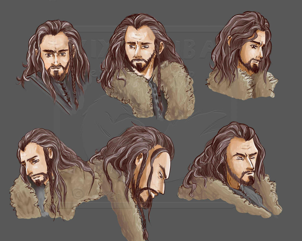 Thorin Oakenshield - Faces Coloured by vixenkiba