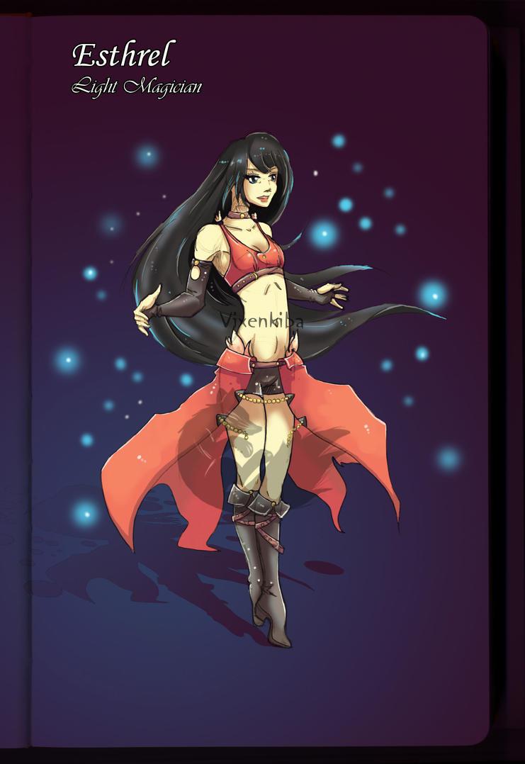 Esthrel - Light Magician of Briela by vixenkiba