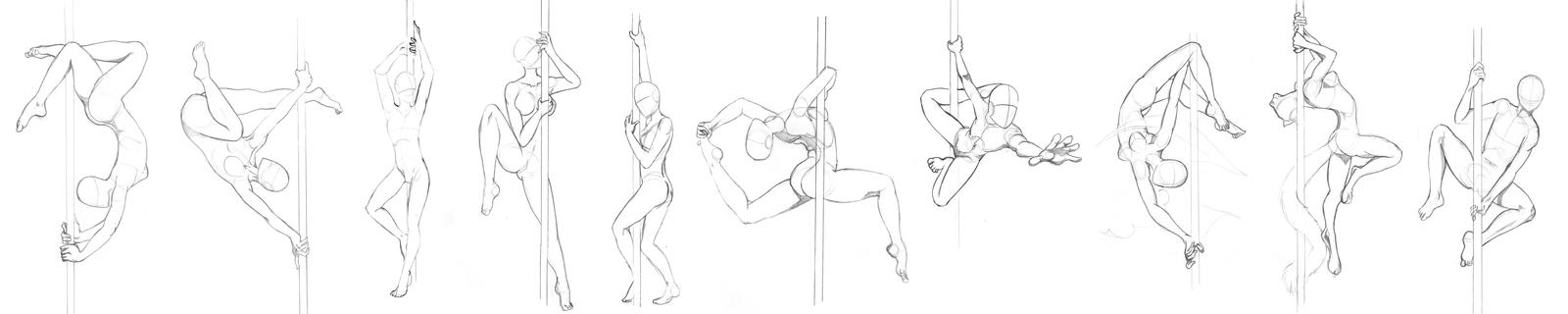 [Pose Study] 01 - Pole Dancing